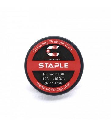 Spool Wire Staple Ga : Ni80 8-.1*.3/36 - Coilology