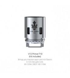 Résistances TFV12 Prince T10 (0.12) (unité) - Smok
