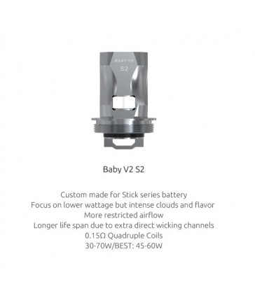 Résistances TFV8 Baby V2 S2 (0.15) Smok
