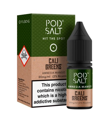 POD SALT AMNESIA MANGO 10ML NICOTINE SALT E-LIQUID FUSION (FR) - 20MG/ML