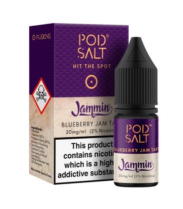 POD SALT BLUEBERRY JAM TART 10ML NICOTINE SALT E-LIQUID FUSION (FR) - 20MG/ML