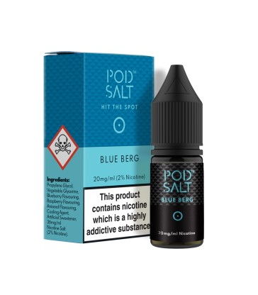 POD SALT BLUE BERG 10ML NICOTINE SALT E-LIQUID (FR)