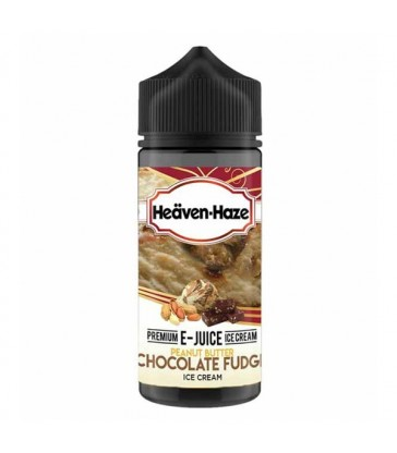 Peanut Butter Chocolate Fudge Ice Cream 100ml Heaven Haze